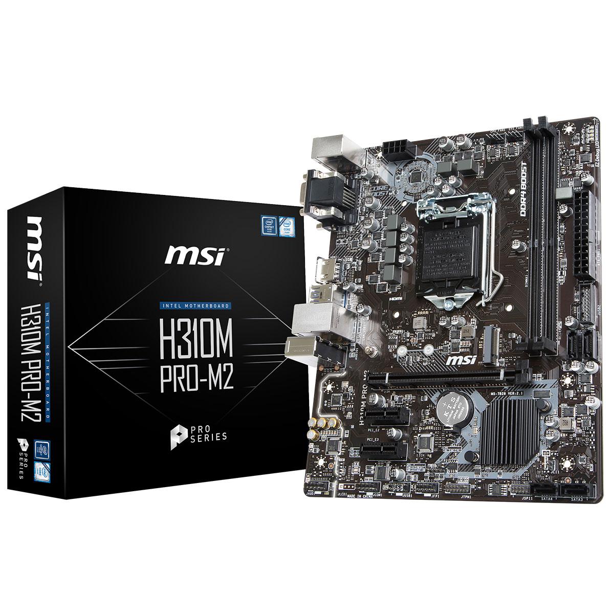 MSI H310M PRO-M2 Micro-ATX DDR4 - Carte mère MSI - Cybertek.fr - 0