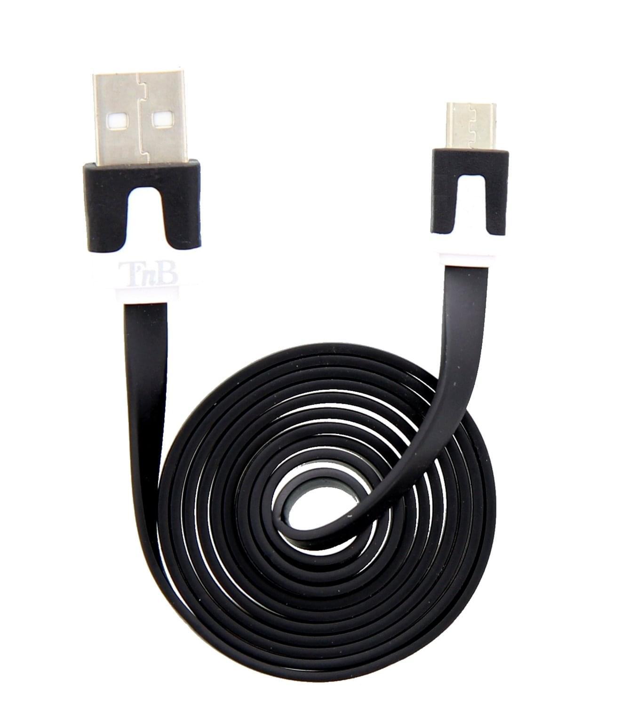 T'nB Câble micro-USB/USB plat noir (Charge & Synchro.) (CBFLAT1BK) - Achat / Vente Accessoire téléphonie sur Cybertek.fr - 0