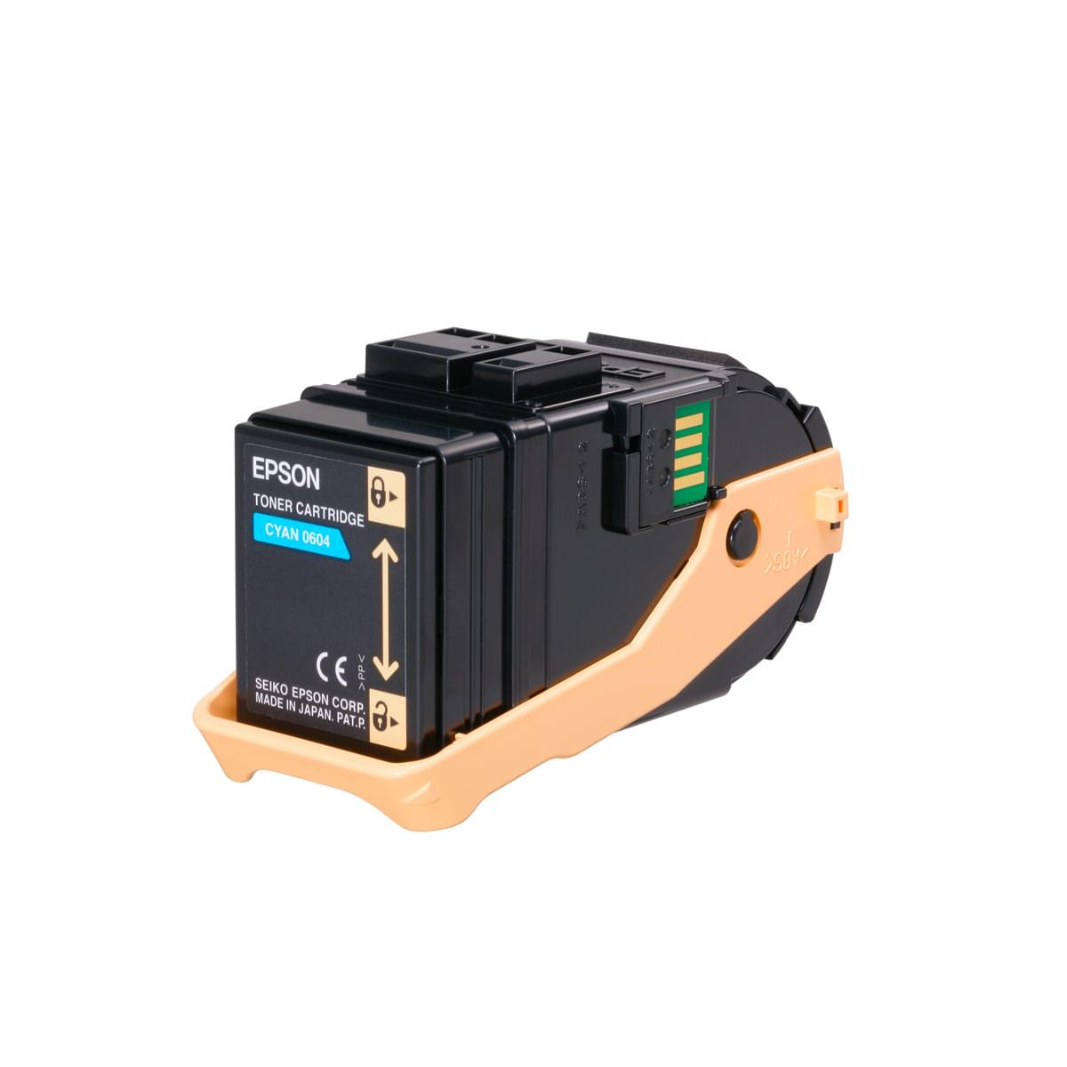 Toner Cyan 7500p - C13S050604 pour imprimante Laser Epson - 0
