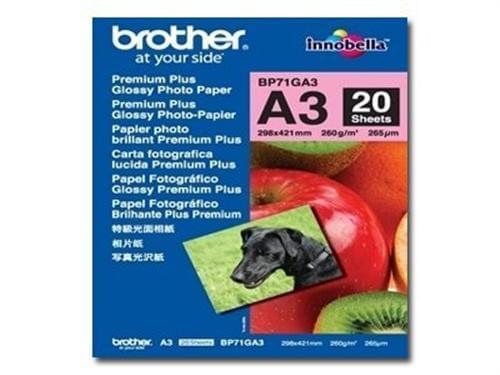 Brother Papier Brillant A3 20f. 260Gr (BP71GA3) - Achat / Vente Papier Imprimante sur Cybertek.fr - 0