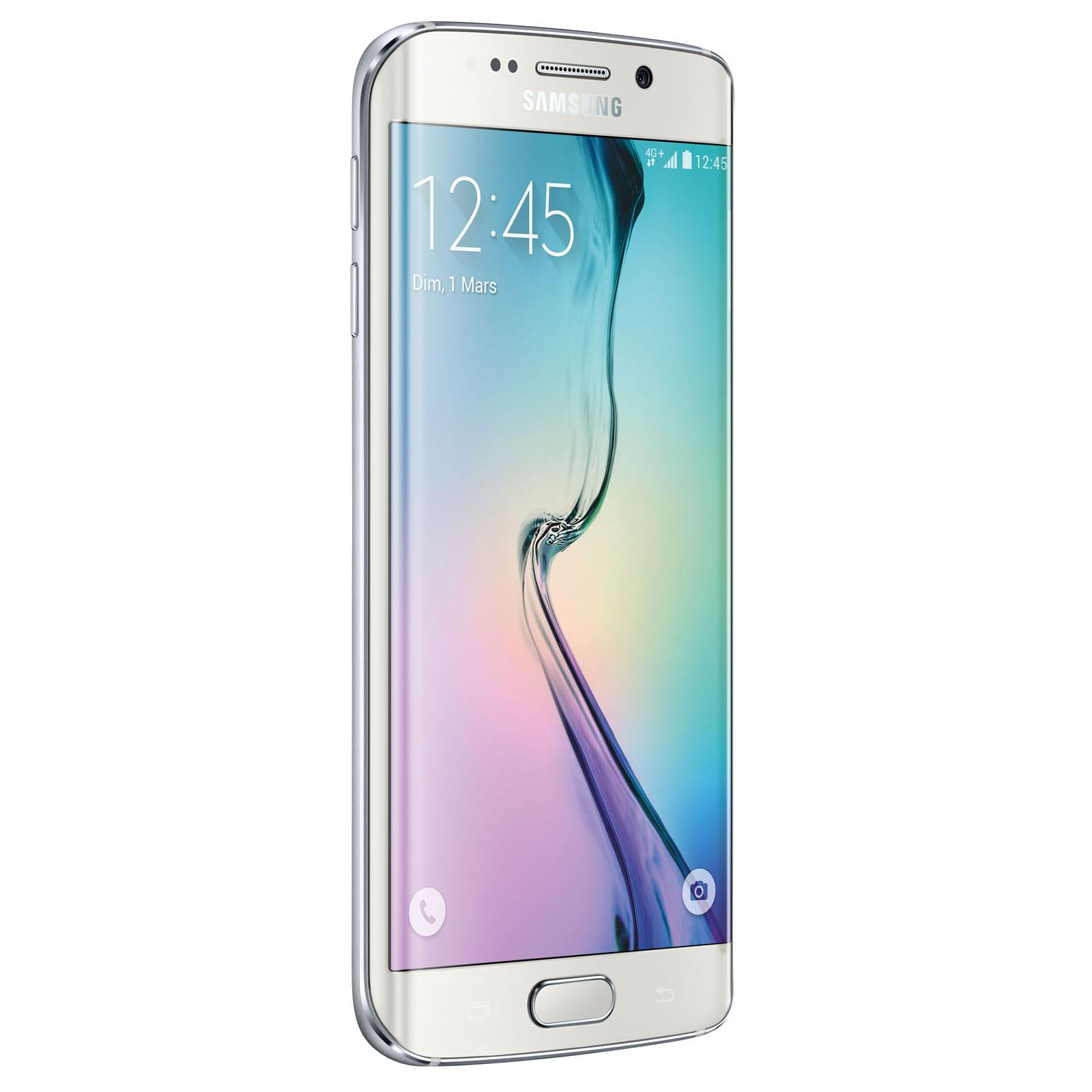 Samsung Galaxy S6 Edge 64Gb White G925F (SM-G925FZWEXEF) - Achat / Vente Téléphonie sur Cybertek.fr - 0