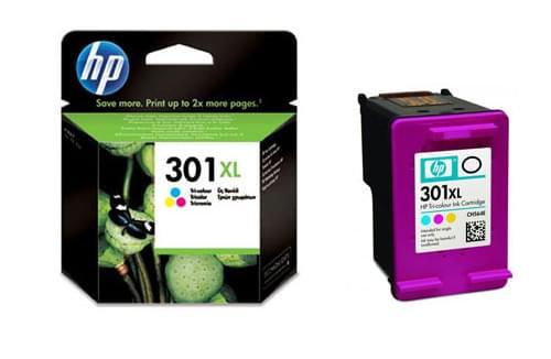 Cartouche 301XL Couleur - CH564EE pour imprimante Jet d'encre HP - 0