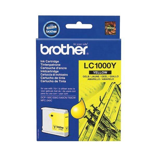 Cartouche LC1000Y Jaune pour imprimante Jet d'encre Brother - 0