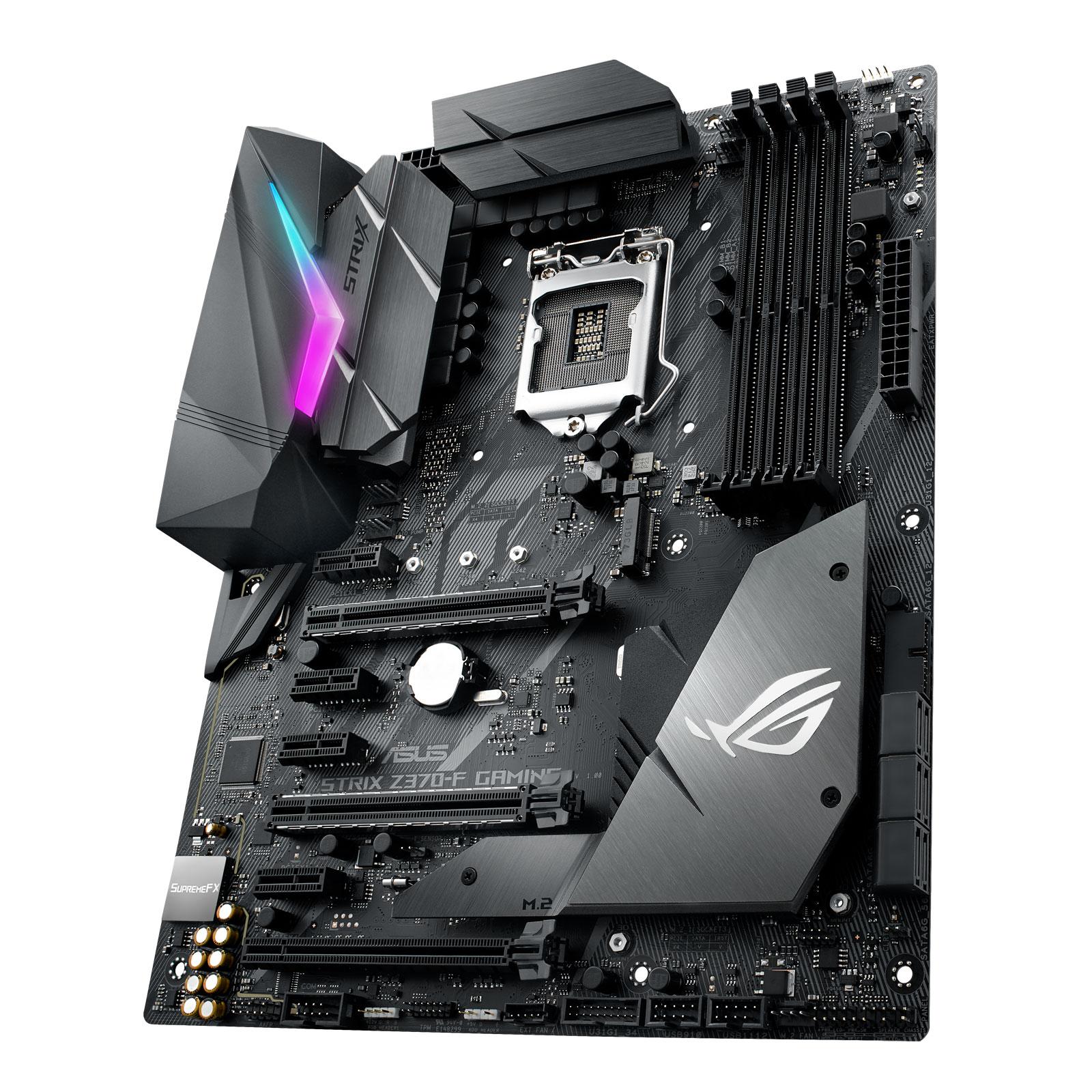 Asus STRIX Z370-F Gaming ATX DDR4 - Carte mère Asus - Cybertek.fr - 2