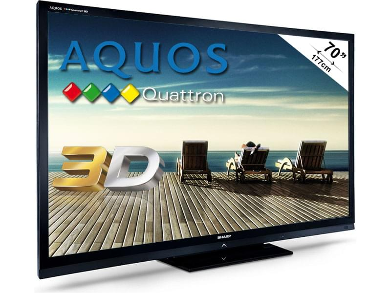 "Sharp LC-70LE835E 3D - 70"" (178cm) LED HDTV 1080P 100Hz - TV - 0"