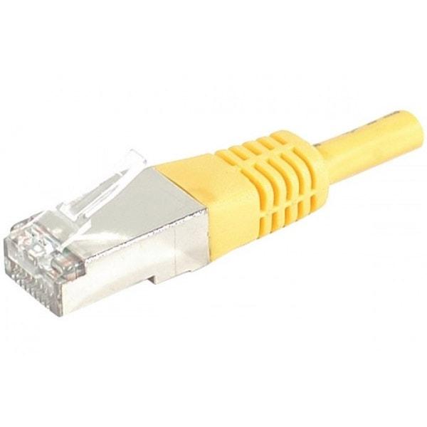 Cordon Cat.6A S/FTP Jaune - 2m - Connectique réseau - Cybertek.fr - 0