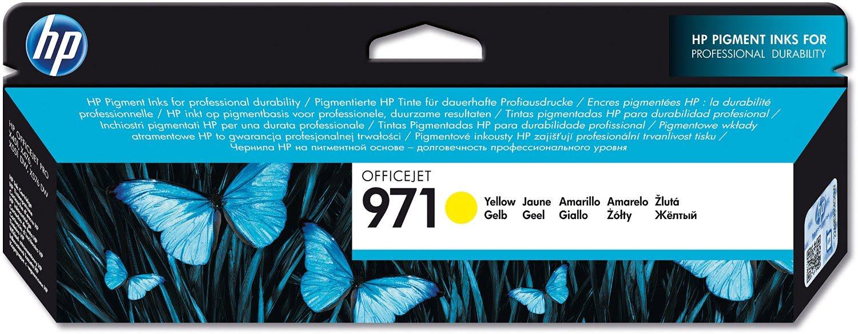 Cartouche d'encre Yellow HP 971 - CN624AE pour imprimante Jet d'encre HP - 0