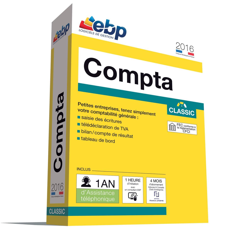 EBP Compta Classic 2016 + VIP (1066J081FAA) - Achat / Vente Logiciel application sur Cybertek.fr - 0