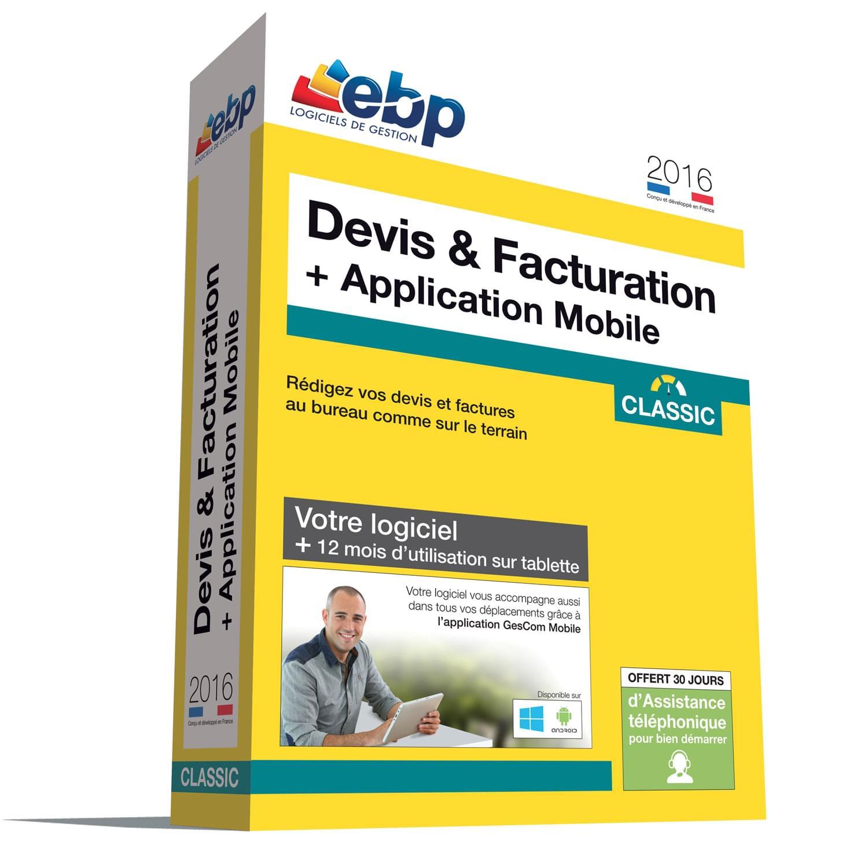 EBP Devis & Facturation Classic 2016 + APP. MOBILE (1008J084FAA) - Achat / Vente Logiciel Application sur Cybertek.fr - 0