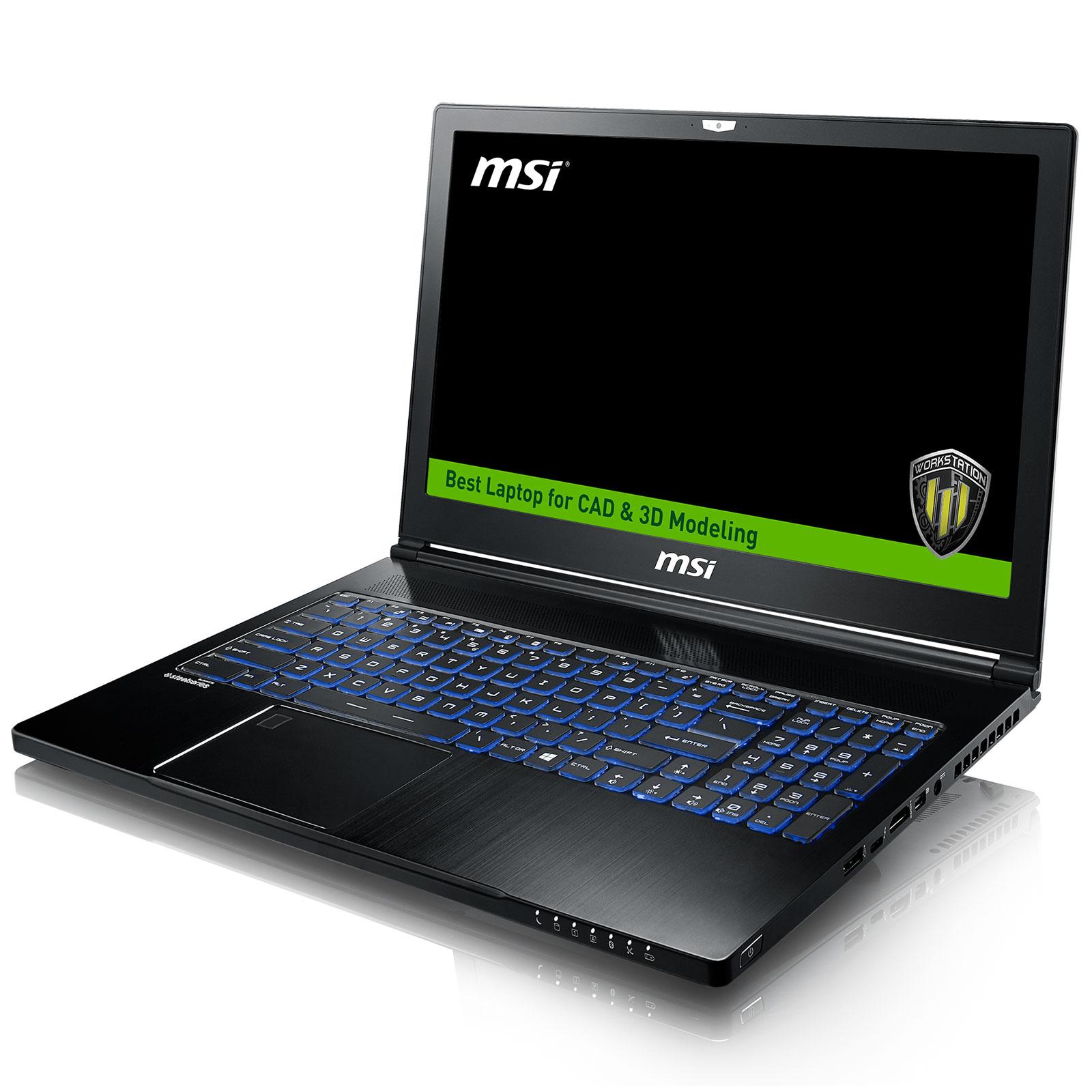 MSI WS63 7RK-405FR -- - PC portable MSI - Cybertek.fr - 0