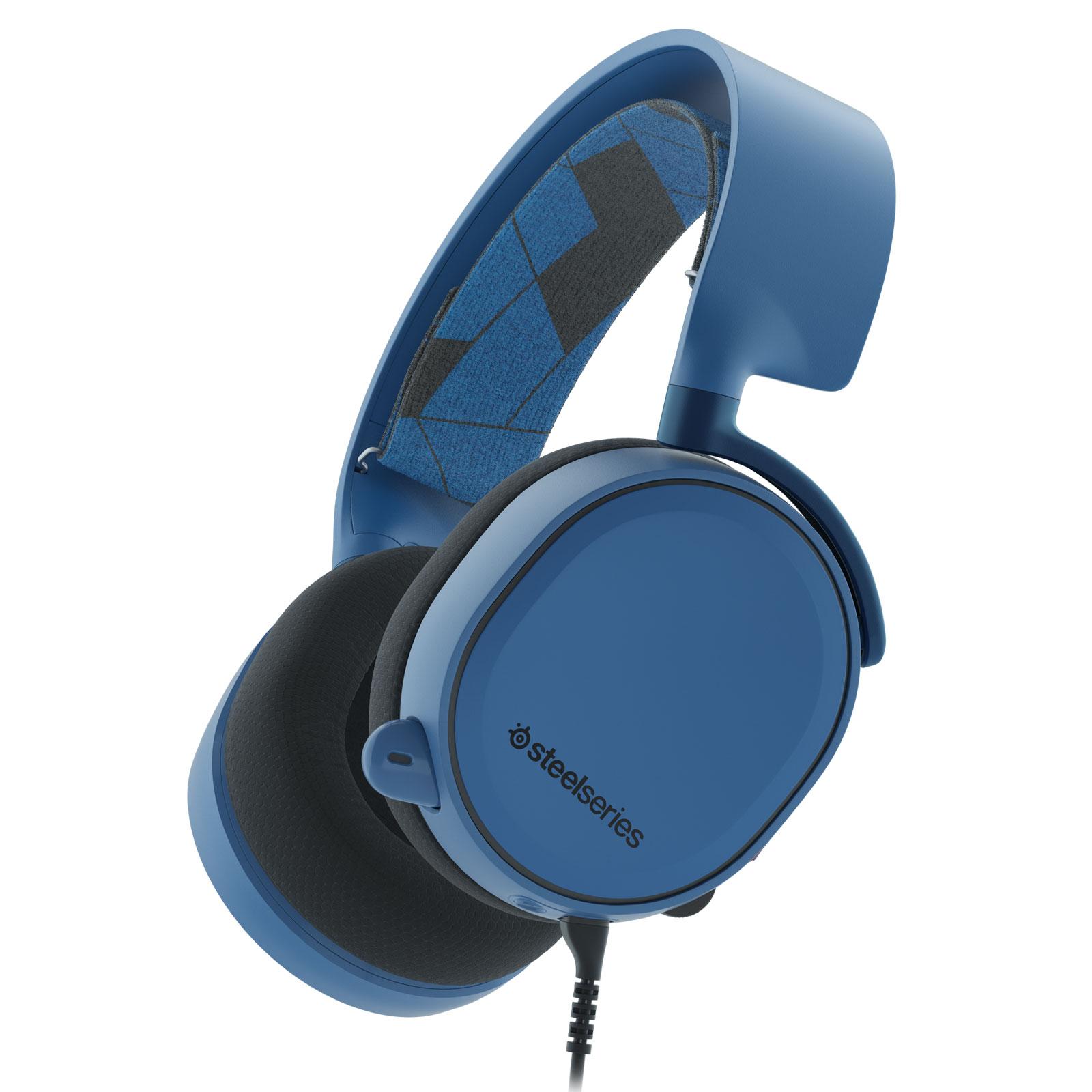 Steelseries Arctis 3 Bleu Stereo Bleu - Micro-casque - Cybertek.fr - 0