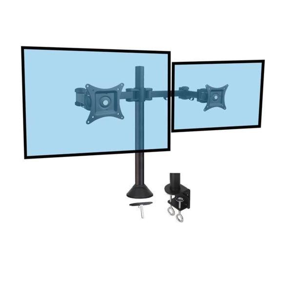 """Support à pincer/à percer 2 écrans - 13"""" 27"""" - Accessoire écran - 0"""