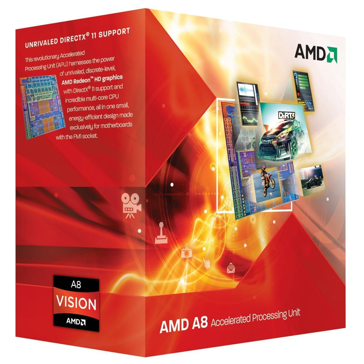 AMD A8 3870 (AD3870WNGXBOX) - Achat / Vente Processeur sur Cybertek.fr - 0