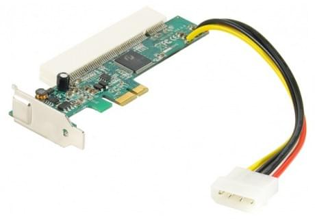 Adaptateur PCI-Express 1x LP pour carte PCI - Connectique PC - 0