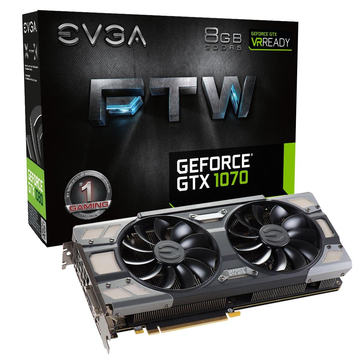 EVGA GTX 1070 FTW Gaming 8Go - Carte graphique EVGA - Cybertek.fr - 0