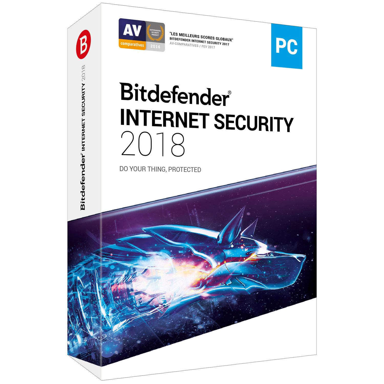Bitdefender Internet Security 2018 - 2 Ans / 5 PC - Logiciel sécurité - 0