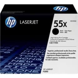 Toner noir HP 55X 12500p - CE255X pour imprimante Laser HP - 0
