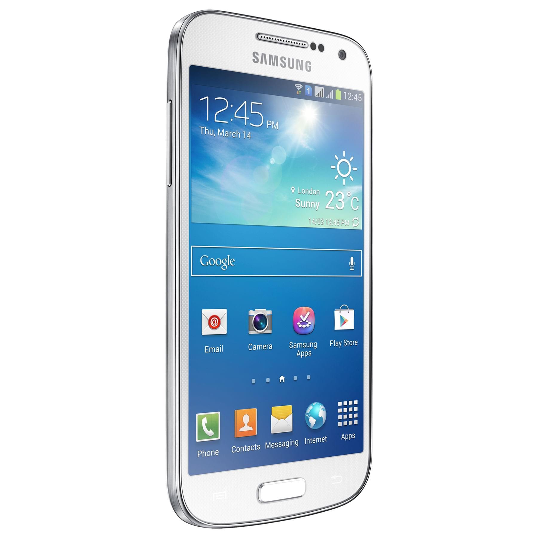 Samsung Galaxy S4 Mini Dual SIM Blanc i9192 (GT-I9192) - Achat / Vente Téléphonie sur Cybertek.fr - 0