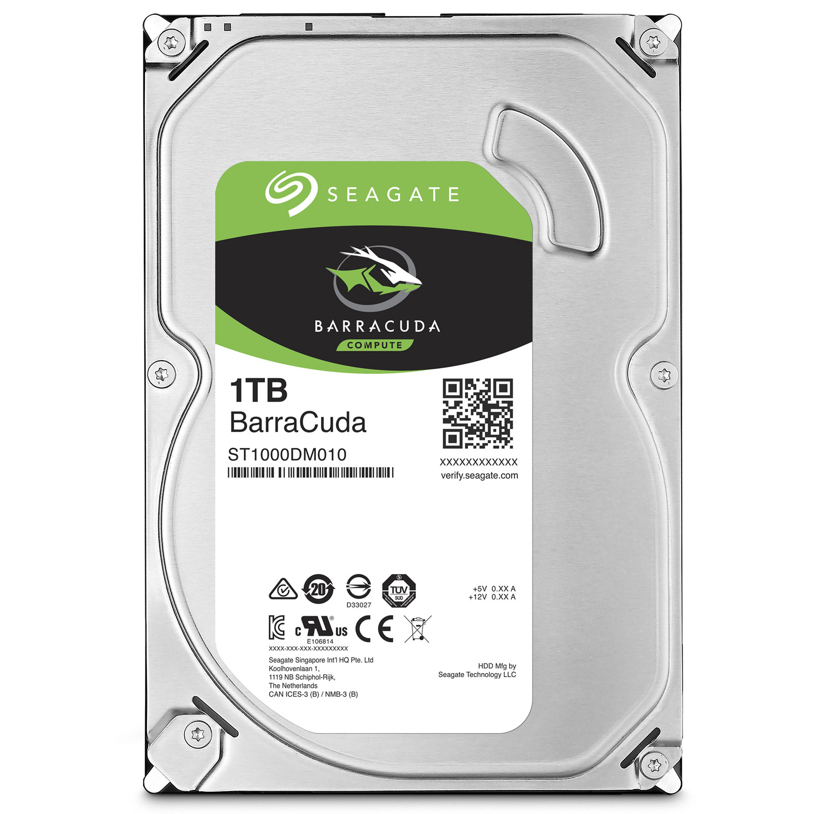 "Seagate 1To SATA III 64Mo BarraCuda ST1000DM010 - Disque dur interne 3.5"" - 0"
