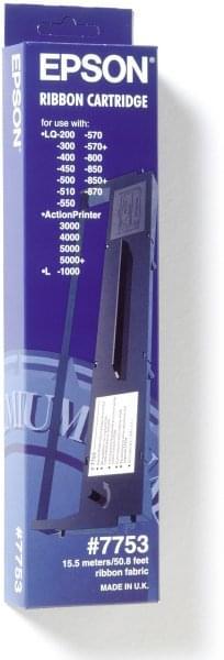 Ruban d'impression noir  S015021 pour imprimante Matricielle Epson - 0