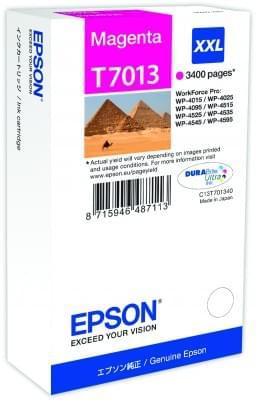 Cartouche d'encre Magenta XXL T7013 - 3400p pour imprimante Jet d'encre Epson - 0