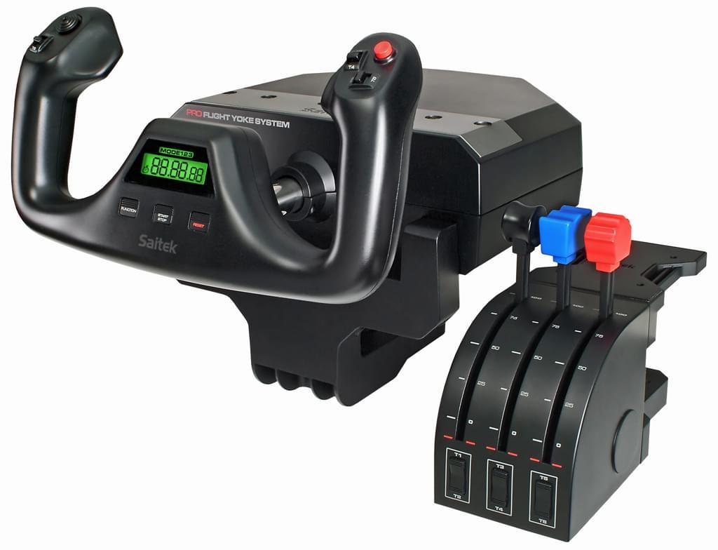 Saitek Pro Flight Yoke System (PZ44) - Achat / Vente Périphérique de Jeu sur Cybertek.fr - 0