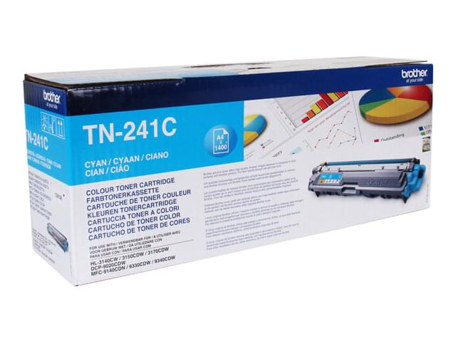 Consommable imprimante Brother Toner Cyan TN241C 1400p