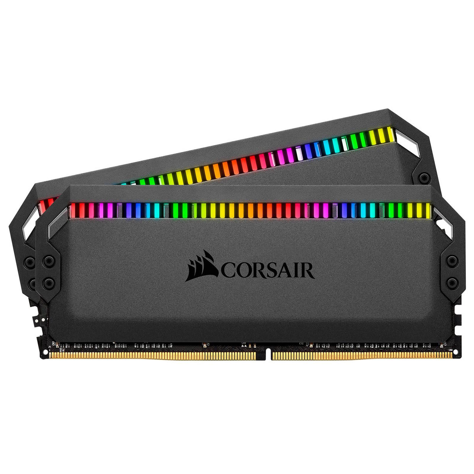 Corsair DOMINATOR PLATINUM RGB 32Go (2x16Go) DDR4 3200MHz C16 32Go DDR4 3200MHz PC25600 - Mémoire PC Corsair sur Cybertek.fr - 0