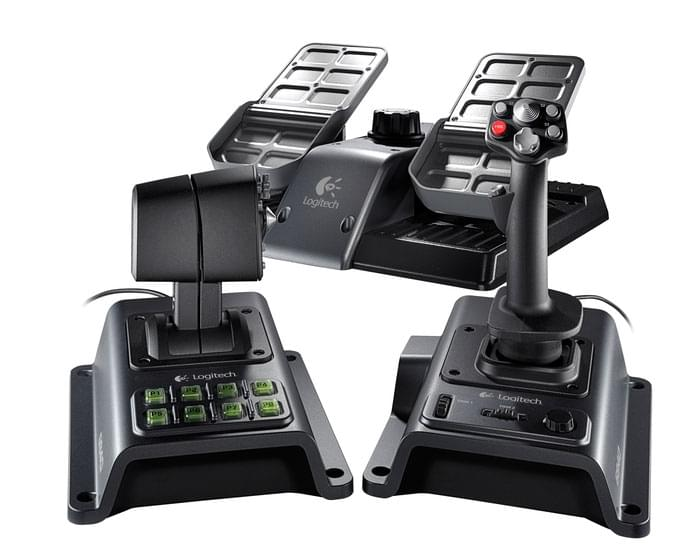 Logitech G940 Flight System - Joystick - 0