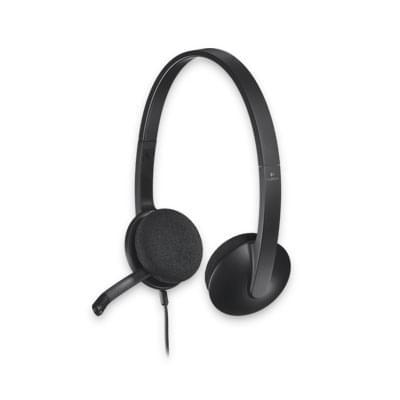 Logitech USB Headset H340 (981-000475) - Achat / Vente Micro-casque sur Cybertek.fr - 0