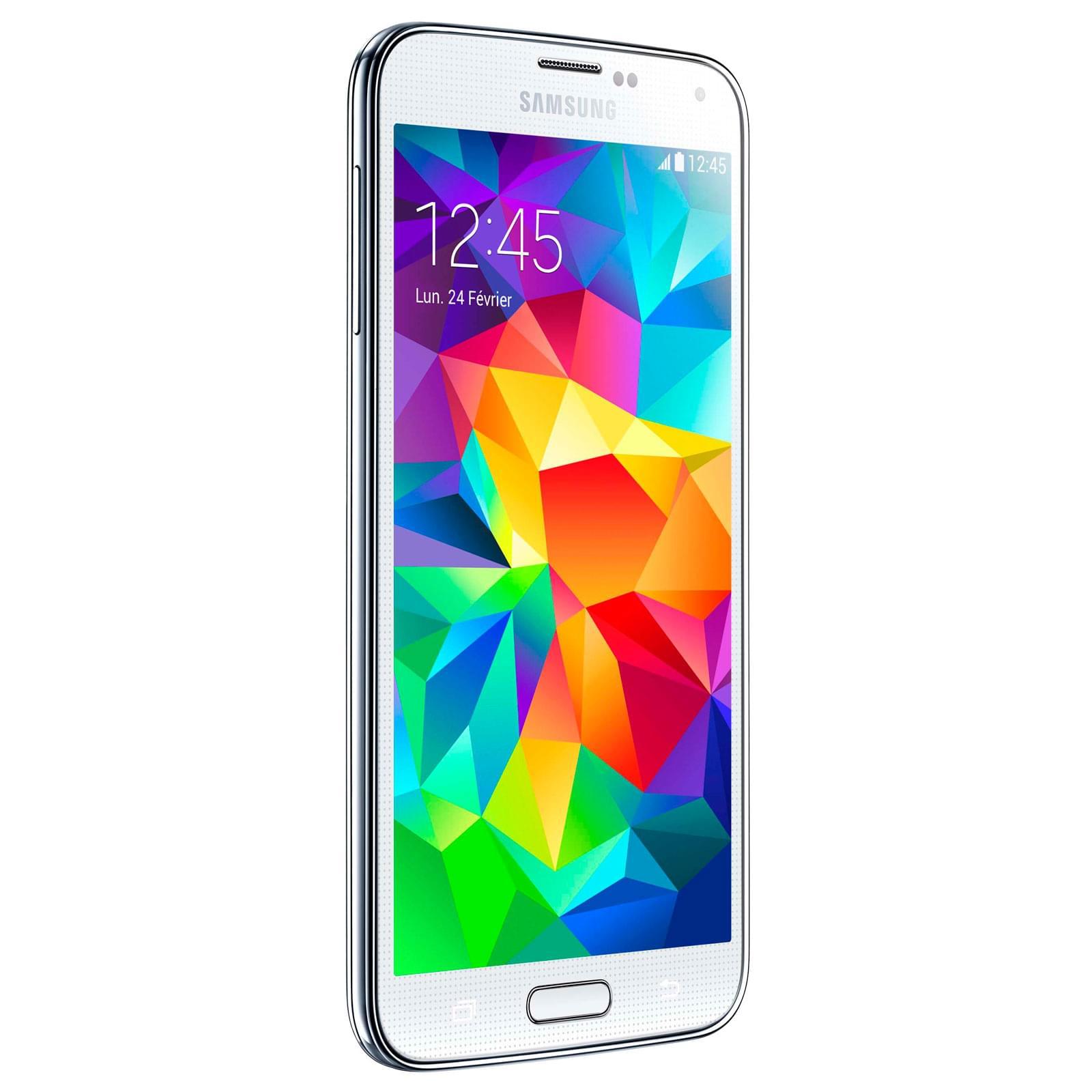Samsung Galaxy S5 16Go Blanc G900F (SM-G900FZWAXEF) - Achat / Vente Téléphonie sur Cybertek.fr - 0