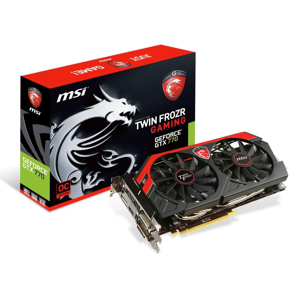 MSI  - 4Go - carte Graphique PC - GPU nVidia - 0