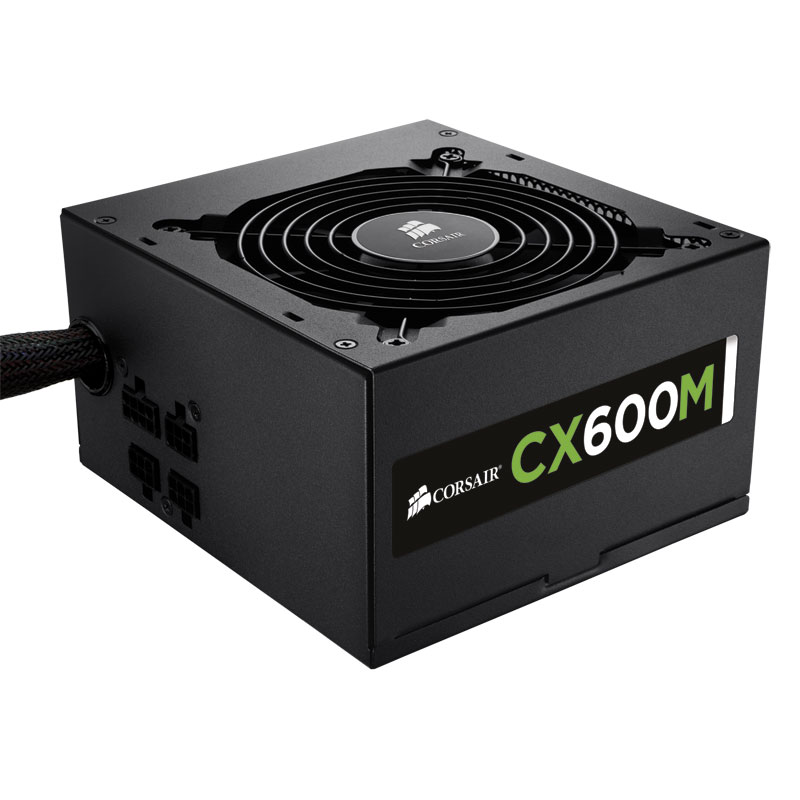 Alimentation PC Corsair ATX 600 W. CX600M 80PLUS Bronze Mod. CP-9020060-EU - 0