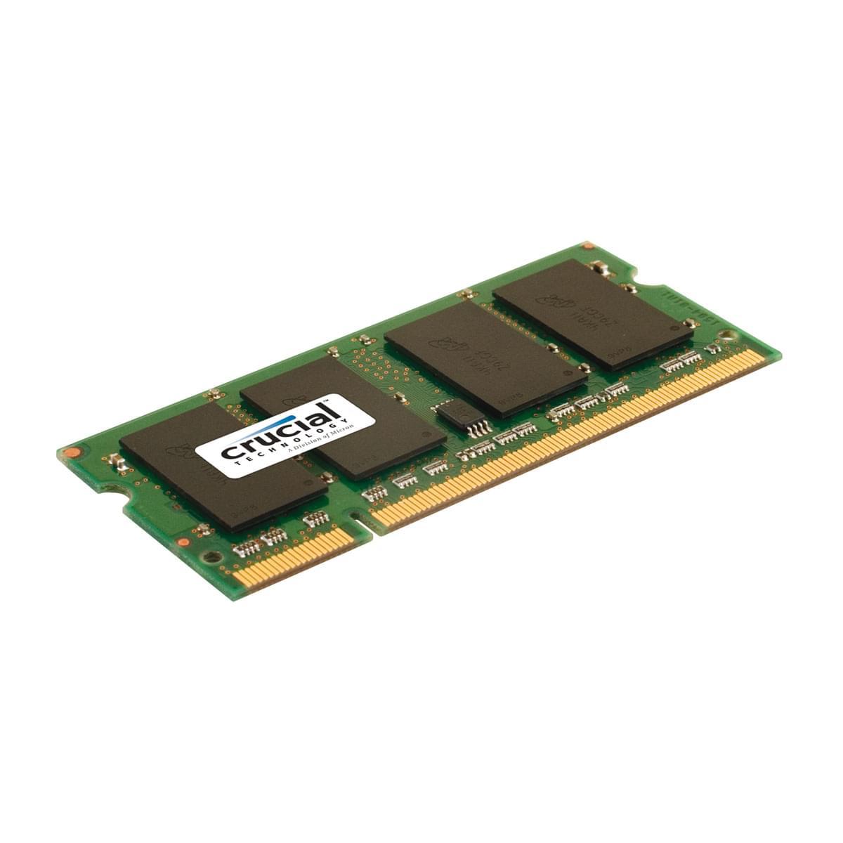 Crucial SO-DIMM 4Go DDR2 FSB800 CT51264AC800  (CT51264AC800 soldé) - Achat / Vente Mémoire PC portable sur Cybertek.fr - 0