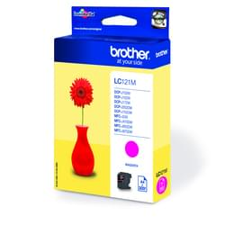 Brother Consommable Imprimante Cartouche LC121M Magenta Cybertek