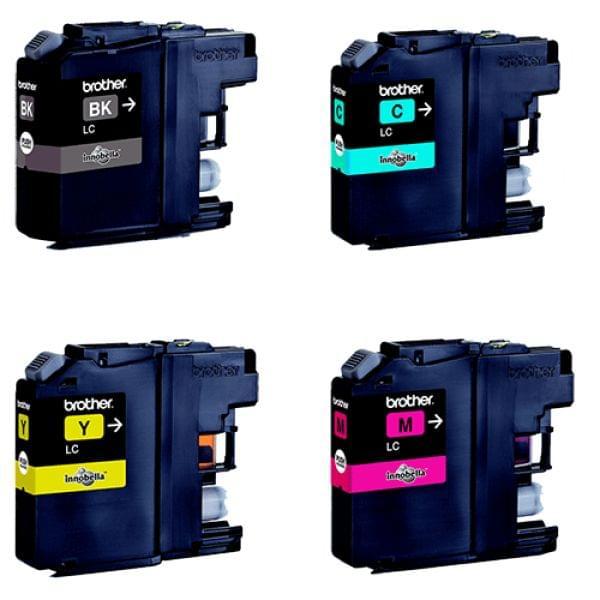 Pack de 4 Cartouches LC121 (BK/Y/M/C) pour imprimante Jet d'encre Brother - 0