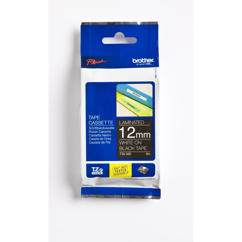 Brother Ruban Noir Caractere Blanc 12mm (TZE335) - Achat / Vente Consommable Imprimante sur Cybertek.fr - 0