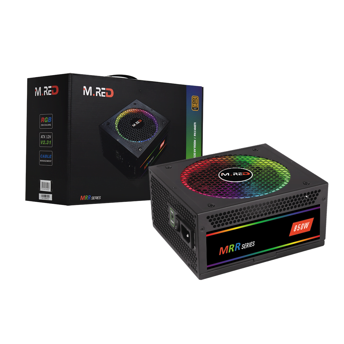 Alimentation M.RED ATX 850W - 80+ GOLD FM - RGB-850