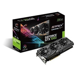 Asus Carte Graphique STRIX-GTX1080-8G-GAMING - GTX1080/8G/DVI/DP/HDMI Cybertek