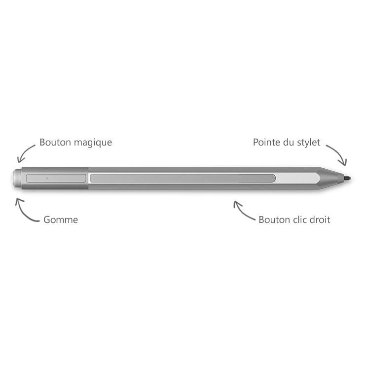 Stylet Surface Pen V3 BlueTooth 4 - Gris - Accessoire tablette - 1