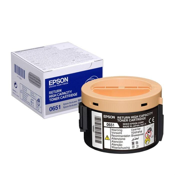 Toner Noir 2200 p. C13S050651 pour imprimante Laser Epson - 0