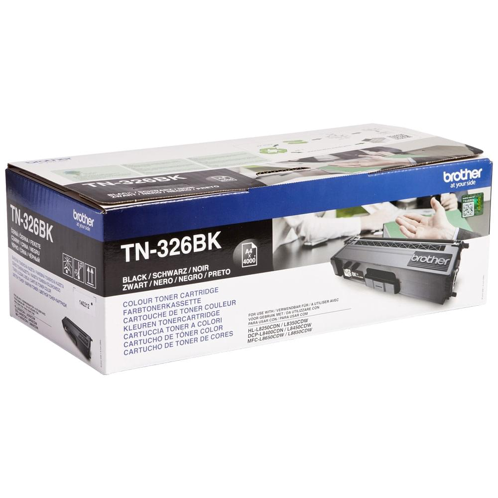 Toner Noir 4000p - TN-326BK pour imprimante Laser Brother - 0
