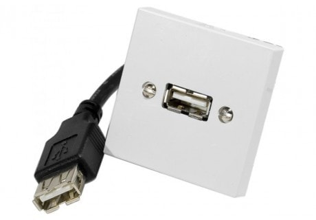Plastron USB A/A F-F 0,10M - Connectique PC - Cybertek.fr - 0