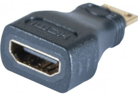 Adaptateur mini HDMI Mâle - HDMI Femelle - Connectique PC - 1