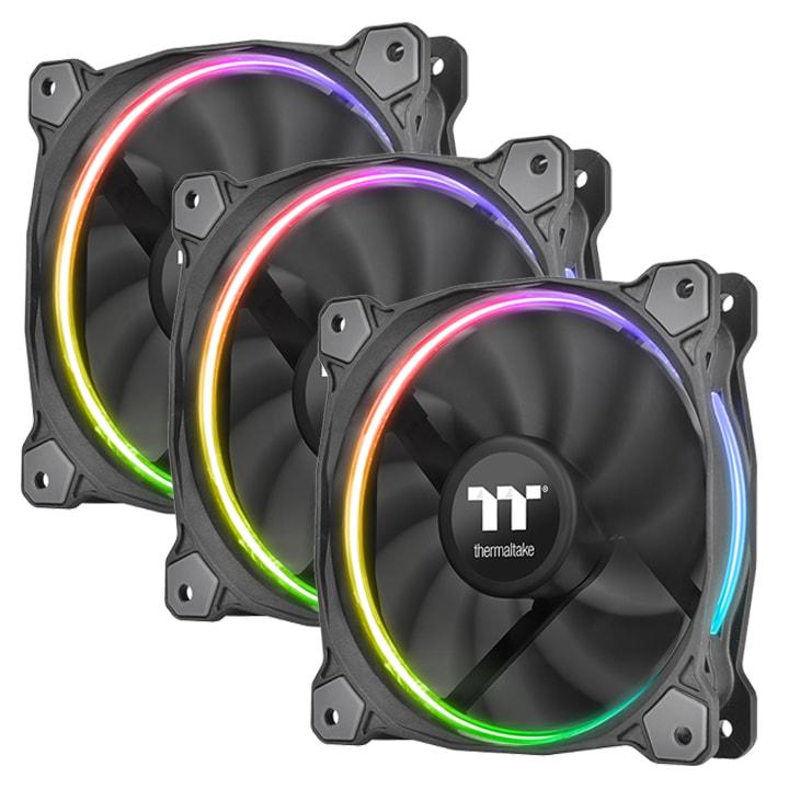 Thermaltake Pack x3 Riing Premium 12 RGB LED/Controleur/Log. - Ventilateur boîtier - 0