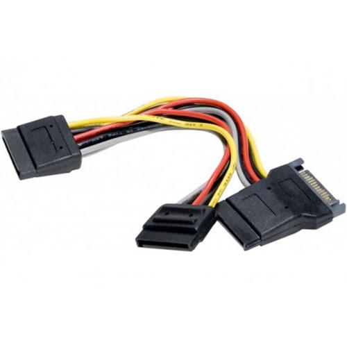 Doubleur alimentation SATA vers 3 SATA - Connectique PC - 0