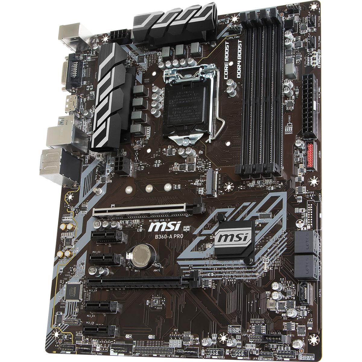 MSI B360-A PRO ATX DDR4 - Carte mère MSI - Cybertek.fr - 2