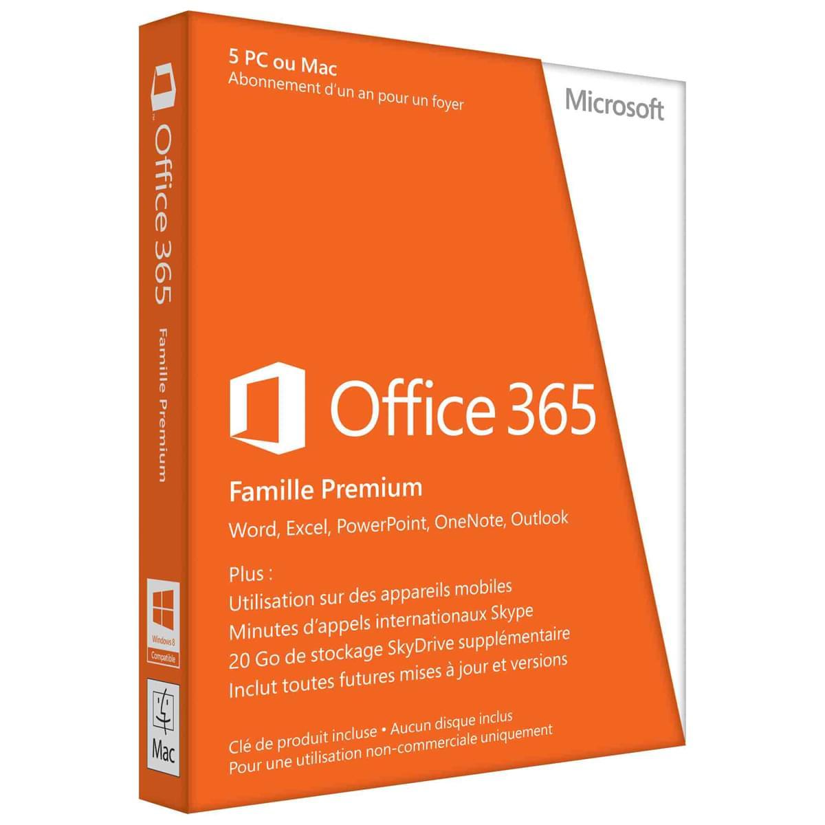 Microsoft Office 365 Home Premium 1 An / 5 PC + 5 App. Mob. (6GQ-00045) - Achat / Vente Logiciel Suite bureautique sur Cybertek.fr - 0