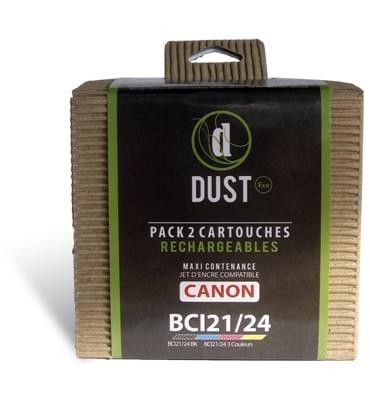 DUST Eco Pack 2 cart. rechargeables BCI21/24 - Cybertek.fr - 0