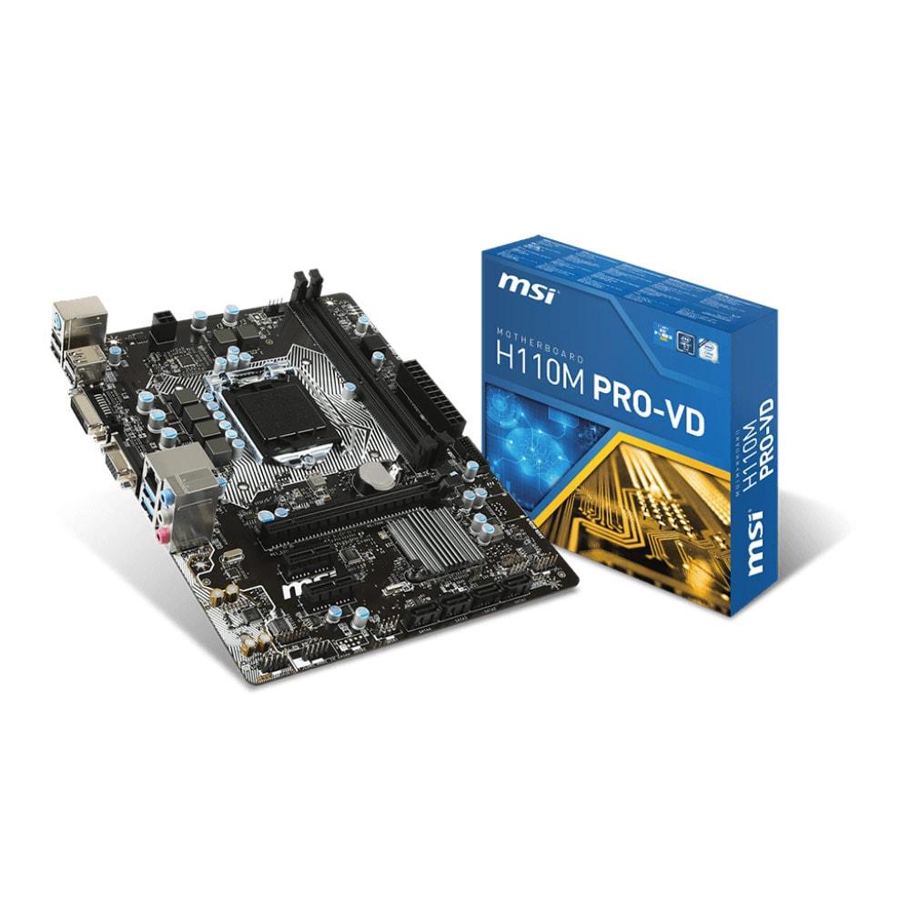 MSI H110M PRO-VD Micro-ATX DDR4 - Carte mère MSI - Cybertek.fr - 0